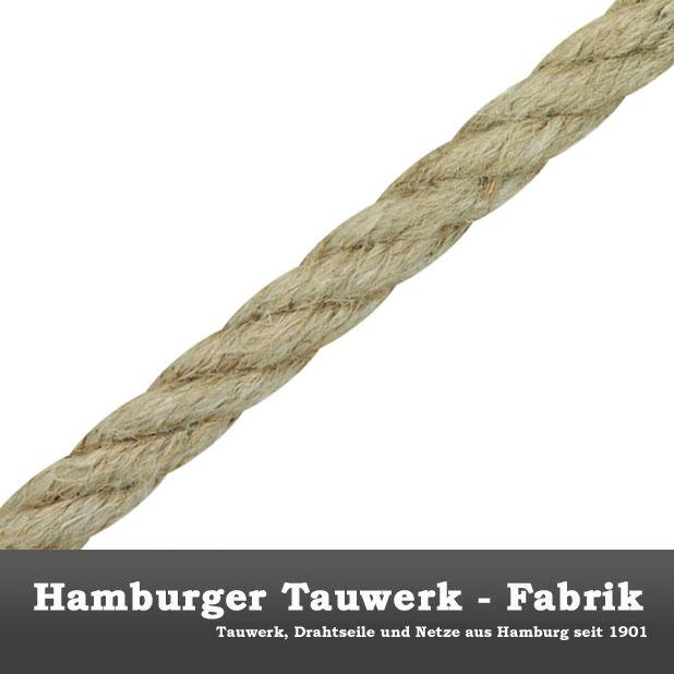 Hanfleine Meterware natur 50mm Hanf-Tauwerk Hanfseil