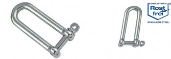 D-Schäkel - lange Form, M4 - M12
