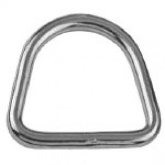 D- Ringe, geschweißt und poliert - Edelstahl