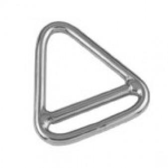 Triangel- Ringe mit Steg, geschweißt und poliert - Edelstahl