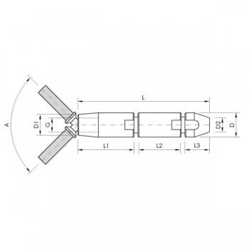 GK27 Gelenkspanner mit Schraubterminal für 10mm Drahtseil