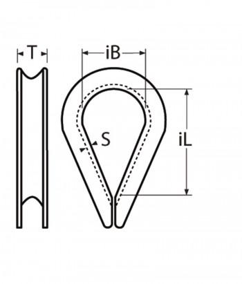 Edelstahl Kausch für 4,0mm Drahtseil