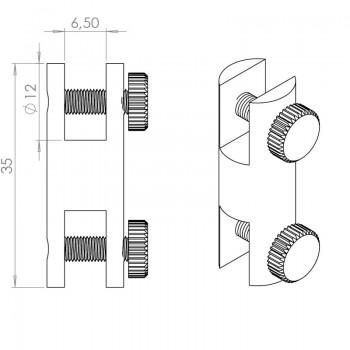 Display - Verbinder Typ15 mit Klemmhalter - M4