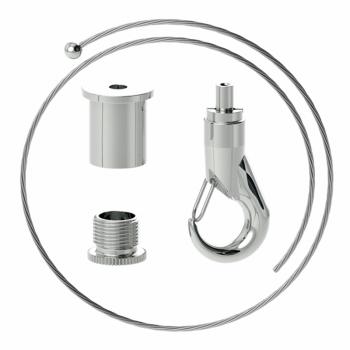 Abhängeset mit Haken-Gripper, Drahtseil ø1,8mm
