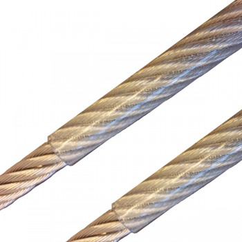 Edelstahl Drahtseil, 3,0/4,0mm - PVC transparent