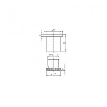 Deckenbefestiger M10x1 mit Schraubkappe - weiß