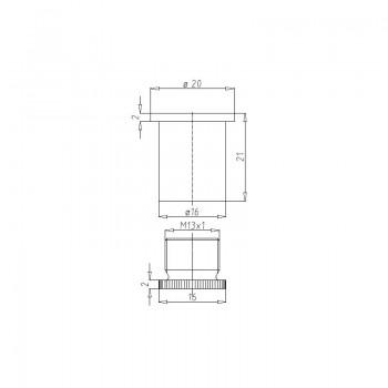 Deckenbefestiger M13x1 mit Schraubkappe - vernickelt