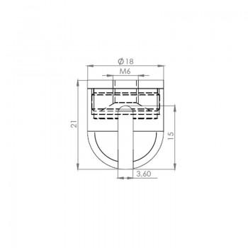 Deckenbefestiger M16x1 für schräge Decken mit Schraubkappe u. Gripper  - vernickelt