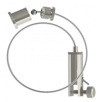 Abhängeset mit Display-Gripper, Drahtseil ø1,5mm / Länge 1500mm