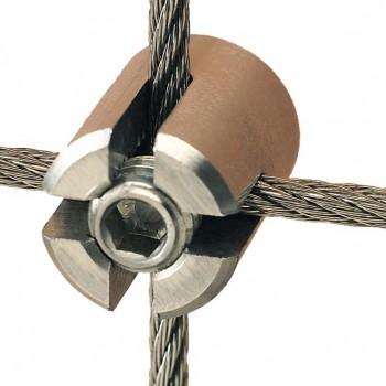 Edelstahl Seilkreuzklemme für 2,0 - 5,0mm Drahtseil - Mini