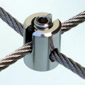 Edelstahl Seilkreuzklemme - Mini für 1,5 - 6,0mm Drahtseil