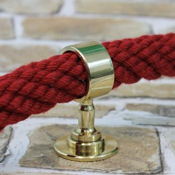 """Seilträger """"Messing glänzend"""" für 20 bis 40mm Handlaufseil"""