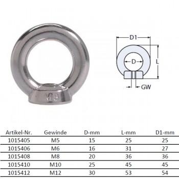 Ringmutter M10 DIN 582