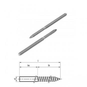 Edelstahl Stockschrauben M6 - M12
