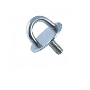 Wandauge mit Grundplatte, rund, Gewinde - 5mm bis 8mm Bügel