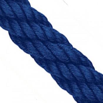 Handlaufseil 30mm / Absperrseil ø Classic Touch / Polyester-Kammgarn - Marine