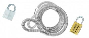 Möbelsicherungs - Drahtseil V4A - 4mm ø - beidseitig mit Schlaufe - Länge 3,0mtr.
