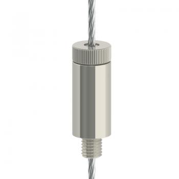 Drahtseilhalter Gripper 30 M8 Außengewinde - vernickelt