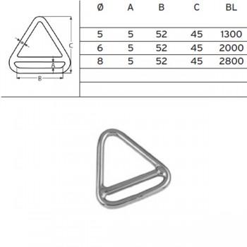 Triangel-Ring mit Steg, 5x52mm ø, Edelstahl