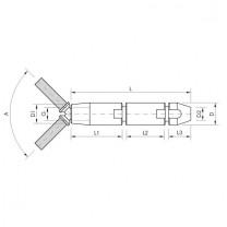 GK27 Gelenkspanner mit Schraubterminal für 8mm Drahtseil