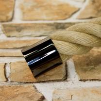"""Seilendkappe """" Schwarzchrom glänzend"""" für 30 und 40mm Handlaufseile"""