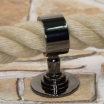 """Seilträger """"schwarz verchromt glänzend"""" für 30 und 40mm Handlaufseil"""
