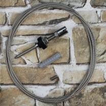Edelstahl Wandhalterung für Ranksysteme, 50mm Wandabstand