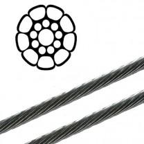 PYTHON  Edelstahl Drahtseil - 12,0mm Durchmesser - Meterware