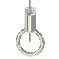 Drahtseilhalter Gripper Typ 30 mit Ring - vernickelt