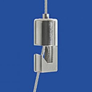 Drahtseilhalter Typ 10 Haken 4x6 verklebt - vernickelt