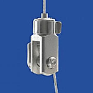 Drahtseilhalter Typ 10 Gabel 4x8 verklebt - vernickelt
