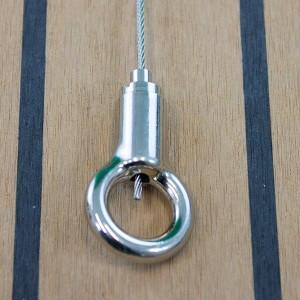 Drahtseilhalter Typ 18 Ring - vernickelt