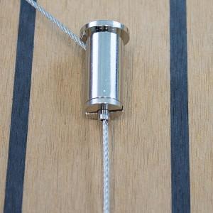 Deckenbefestiger mit Drahtseilhalter M10x1