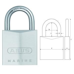 Abus Vorhangschloss Marine 75 IB/50 - 100% rostfreie Sicherheit - gleichschließend