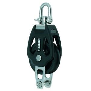 Einscheibiger Gleitlager-Block mit Wirbel und Bügel / 60mm Ø Scheibe
