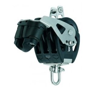 Dreischeibiger Gleitlager-Block PBB mit Wirbel, Unterbügel und Klemme