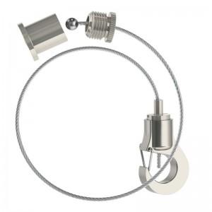 Abhängeset mit kleinem Haken-Gripper, Drahtseil ø1,0mm