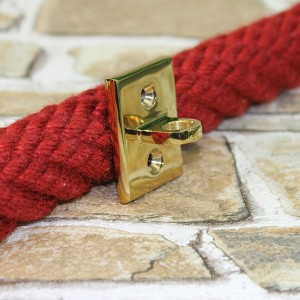 Wandauge für Karabiner - Endkappen - Messing glänzend