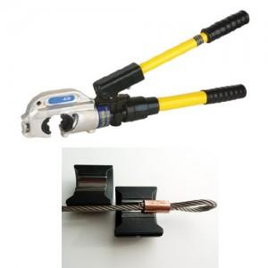 Hydraulische Presszange - für DIN/EN 14311-3 Oval Pressklemmen
