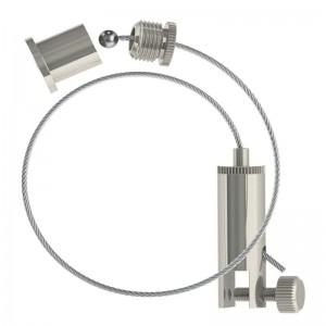 Abhängeset mit Display-Gripper, Drahtseil ø1,5mm / Länge 3000mm