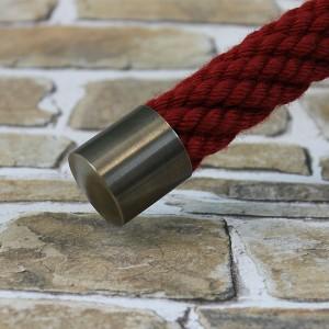 """Seilendkappe """"bronziert"""" für 20 bis 40mm Handlaufseil"""
