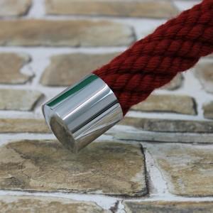 """Seilendkappe """" verchromt glänzend"""" für 40mm Handlaufseil"""