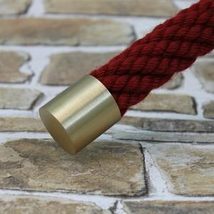 """Seilendkappe """" Messing matt"""" für 20 bis 40mm Handlaufseil"""