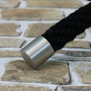 """Seilendkappe """"Nickel matt"""" für 40mm Handlaufseil"""
