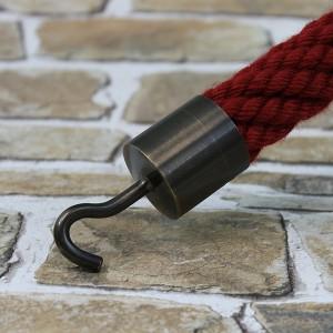 """Seilendkappe mit Haken """"bronziert"""" für 20 - 40mm Absperrseile"""