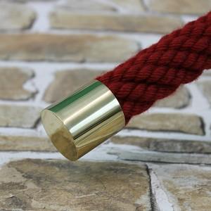 """Seilendkappe """"Messing glänzend"""" für 20 bis 40mm Handlaufseil"""