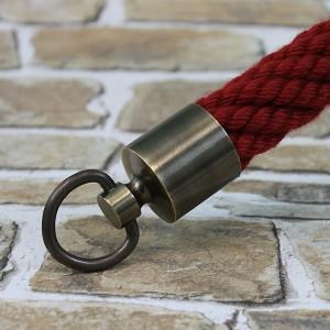 """Seilendkappe mit Ring """"bronziert"""" für 30mm Absperrseile"""
