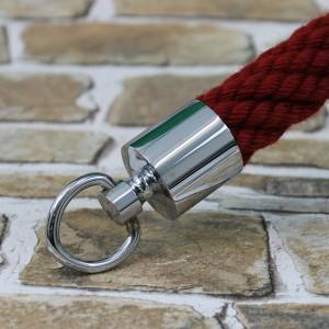 """Seilendkappe mit Ring """"verchromt glänzend"""" für 20 - 40mm Absperrseile"""