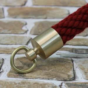 """Seilendkappe mit Ring """"Messing matt"""" für 20 - 40mm Absperrseile"""