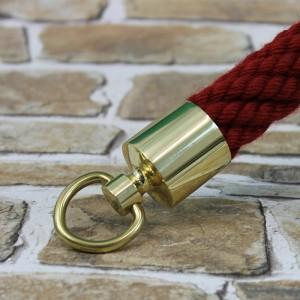 """Seilendkappe mit Ring """"Messing glänzend"""" für 40mm Absperrseile"""